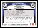 2011 Topps #368   Colts Team Back Thumbnail