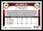 2011 Topps #249  Roy Helu  Back Thumbnail