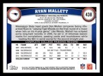 2011 Topps #438  Ryan Mallett  Back Thumbnail