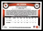 2011 Topps #302  Joe Haden  Back Thumbnail