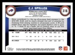 2011 Topps #316  C.J. Spiller  Back Thumbnail