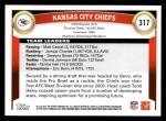 2011 Topps #317   Chiefs Team Back Thumbnail