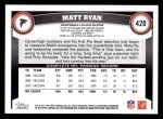 2011 Topps #420  Matt Ryan  Back Thumbnail