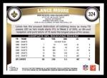 2011 Topps #324  Lance Moore  Back Thumbnail