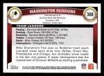2011 Topps #388   Redskins Team Back Thumbnail