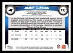 2011 Topps #433  Jimmy Clausen  Back Thumbnail
