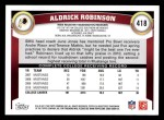 2011 Topps #418  Aldrick Robinson  Back Thumbnail