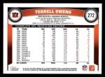 2011 Topps #272  Terrell Owens  Back Thumbnail