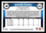 2011 Topps #365  Kealoha Pilares  Back Thumbnail