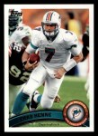 2011 Topps #255  Chad Henne  Front Thumbnail