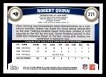 2011 Topps #271  Robert Quinn  Back Thumbnail