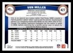 2011 Topps #427  Von Miller  Back Thumbnail