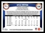 2011 Topps #338  Kyle Orton  Back Thumbnail