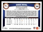 2011 Topps #304  Eddie Royal  Back Thumbnail