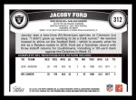 2011 Topps #312  Jacoby Ford  Back Thumbnail