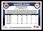 2011 Topps #347  Brandon Jacobs  Back Thumbnail
