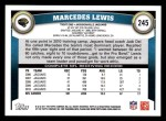 2011 Topps #245  Marcedes Lewis  Back Thumbnail