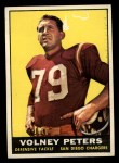 1961 Topps #170  Volney Peters  Front Thumbnail
