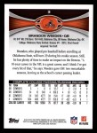 2012 Topps #3  Brandon Weeden  Back Thumbnail