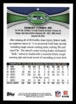 2012 Topps #6  Robert Turbin  Back Thumbnail