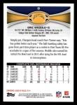 2012 Topps #8  Eric Weddle  Back Thumbnail