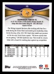 2012 Topps #15  Harrison Smith  Back Thumbnail