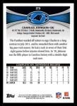2012 Topps #23  Charles Johnson  Back Thumbnail