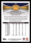 2012 Topps #26  Antonio Gates  Back Thumbnail