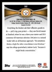 2012 Topps #32  David DeCastro  Back Thumbnail