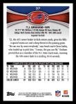 2012 Topps #37  T.J. Graham  Back Thumbnail