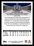 2012 Topps #42  Vick Ballard  Back Thumbnail