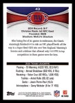 2012 Topps #43   -  Eli Manning New York Giants Back Thumbnail