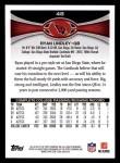 2012 Topps #48  Ryan Lindley  Back Thumbnail