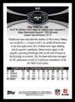 2012 Topps #50  Tim Tebow  Back Thumbnail