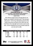 2012 Topps #58  Dwayne Allen  Back Thumbnail