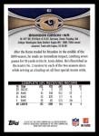 2012 Topps #61  Brandon Gibson  Back Thumbnail