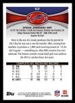 2012 Topps #62  Steve Johnson  Back Thumbnail