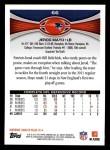 2012 Topps #66  Jerod Mayo  Back Thumbnail