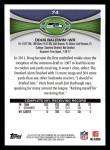 2012 Topps #74  Doug Baldwin  Back Thumbnail