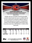 2012 Topps #76  Chandler Jones  Back Thumbnail