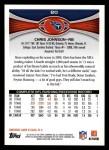 2012 Topps #80  Chris Johnson  Back Thumbnail