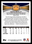 2012 Topps #83  Kendall Reyes  Back Thumbnail