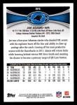 2012 Topps #85  Joe Adams  Back Thumbnail