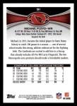 2012 Topps #91  Michael Floyd  Back Thumbnail