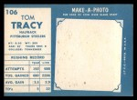 1961 Topps #106  Tom Tracy  Back Thumbnail