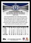 2012 Topps #92  Chandler Harnish  Back Thumbnail