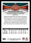 2012 Topps #95  Rishard Matthews  Back Thumbnail