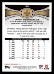 2012 Topps #96  Devery Henderson  Back Thumbnail