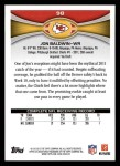2012 Topps #98  Jon Baldwin  Back Thumbnail