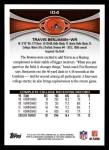 2012 Topps #104  Travis Benjamin  Back Thumbnail
